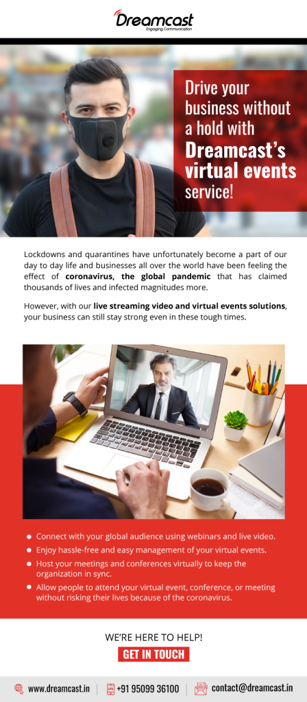 Drive Your Business Without A Hold With Dreamcast's Virtual Events Services